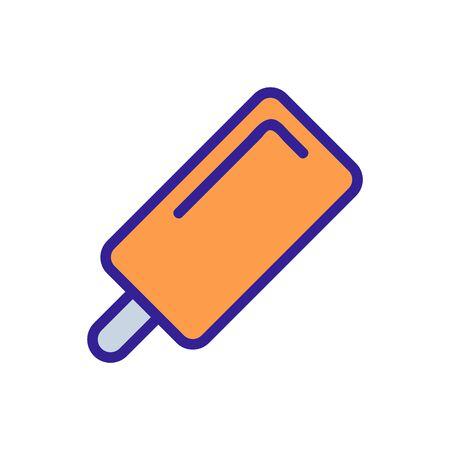 Chocolate ice cream icon vector. Thin line sign. Isolated contour symbol illustration