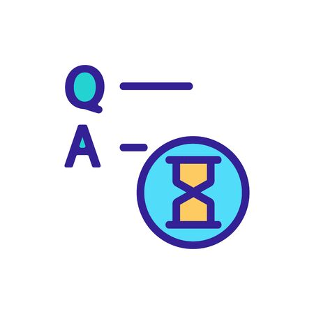 Exam test knowledge icon vector. Thin line sign. Isolated contour symbol illustration