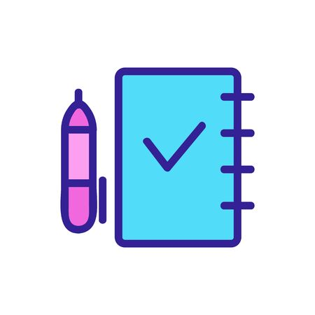 exam testing icon vector. Thin line sign. Isolated contour symbol illustration
