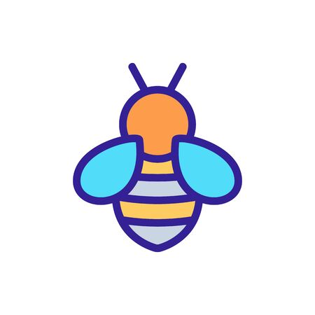 Bee icon vector. Thin line sign. Isolated contour symbol illustration