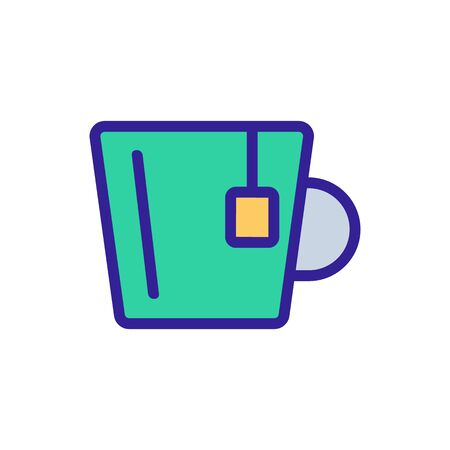 Tea honey icon vector. Thin line sign. Isolated contour symbol illustration