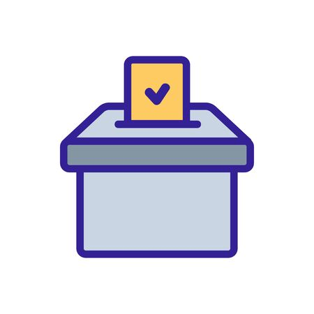 election voting icon vector. Thin line sign. Isolated contour symbol illustration