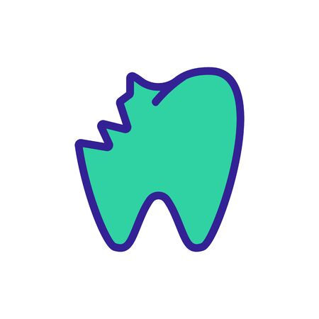 toothache icon vector. Thin line sign. Isolated contour symbol illustration