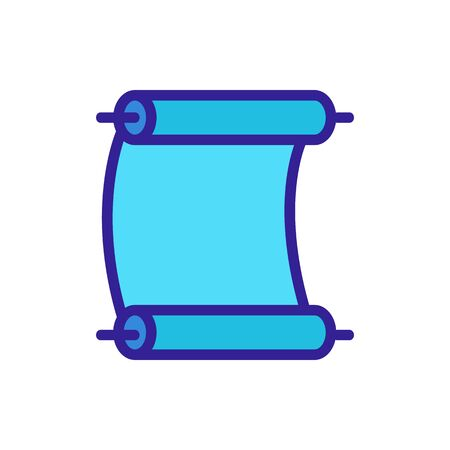parchment paper scroll icon vector. Thin line sign. Isolated contour symbol illustration Vettoriali