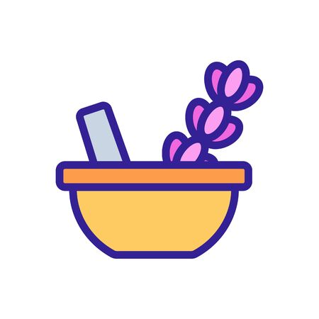 Lavender spice icon vector. Thin line sign. Isolated contour symbol illustration 일러스트