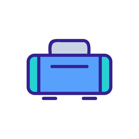 baggage icon vector. Thin line sign. Isolated contour symbol illustration