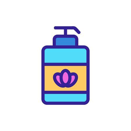 Lavender cream icon vector. Thin line sign. Isolated contour symbol illustration Illustration