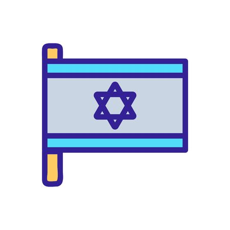 Israel icon vector. Thin line sign. Isolated contour symbol illustration