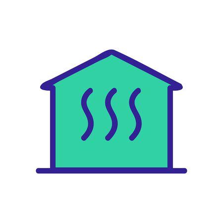 House heater air icon vector. Thin line sign. Isolated contour symbol illustration Ilustracje wektorowe