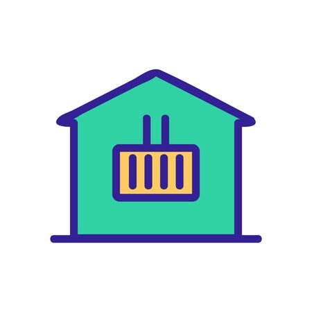 House heater air icon vector. Thin line sign. Isolated contour symbol illustration