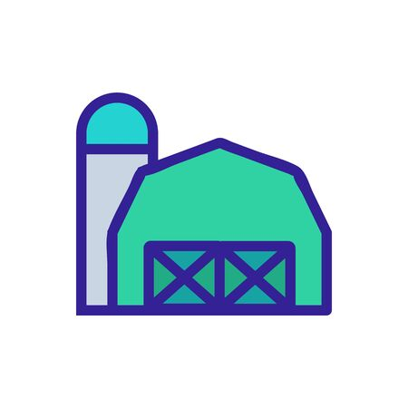 Farm icon vector. Thin line sign. Isolated contour symbol illustration
