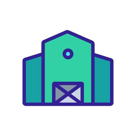 Farm icon vector. Thin line sign. Isolated contour symbol illustration