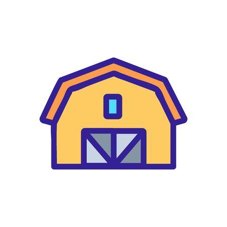 Farm house icon vector. Thin line sign. Isolated contour symbol illustration