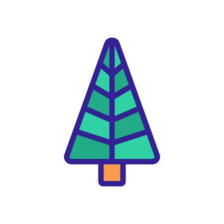 the pine tree icon vector. Thin line sign. Isolated contour symbol illustration