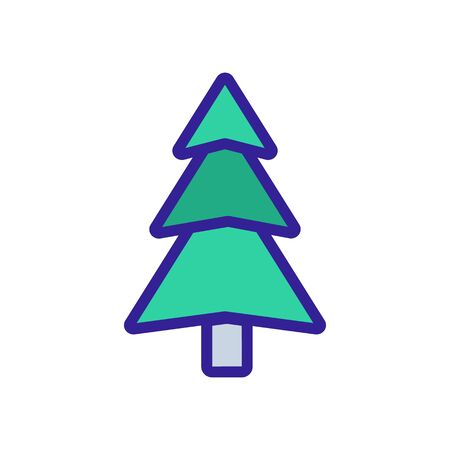evergreen Christmas tree icon vector. Thin line sign. Isolated contour symbol illustration