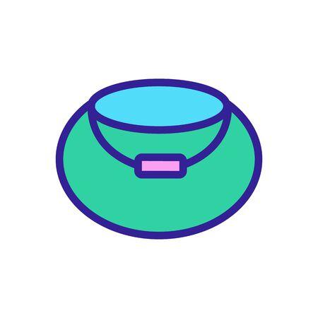 Cauldron magician icon vector. Thin line sign. Isolated contour symbol illustration Illustration