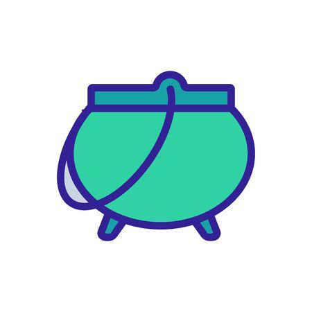 cauldron potion icon vector. Thin line sign. Isolated contour symbol illustration Çizim
