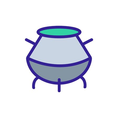 cauldron food icon vector. Thin line sign. Isolated contour symbol illustration