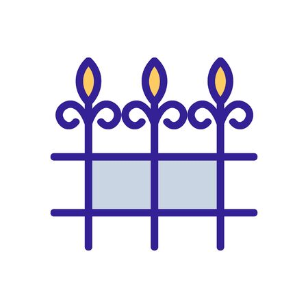blacksmith fence icon vector. Thin line sign. Isolated contour symbol illustration