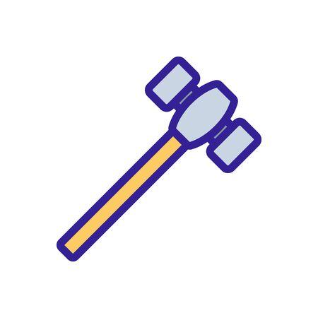 Blacksmith hammer icon vector. Thin line sign. Isolated contour symbol illustration Vecteurs