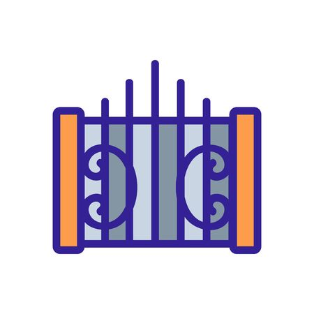 blacksmith fence icon vector. Thin line sign. Isolated contour symbol illustration