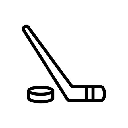 putter, puck icon vector. Thin line sign. Isolated contour symbol illustration Illustration
