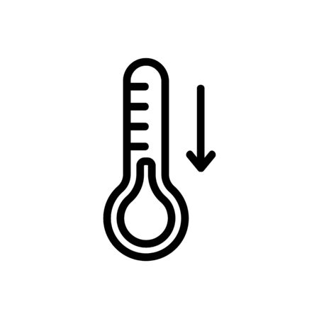 Low temperature icon vector. Thin line sign. Isolated contour symbol illustration