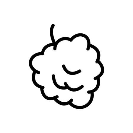 Raspberry berry icon vector. Thin line sign. Isolated contour symbol illustration