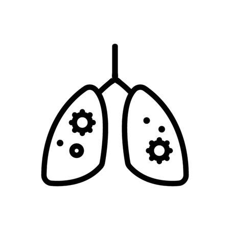 virus, human lightweight vector icon. Thin line sign. Isolated contour symbol illustration Ilustración de vector