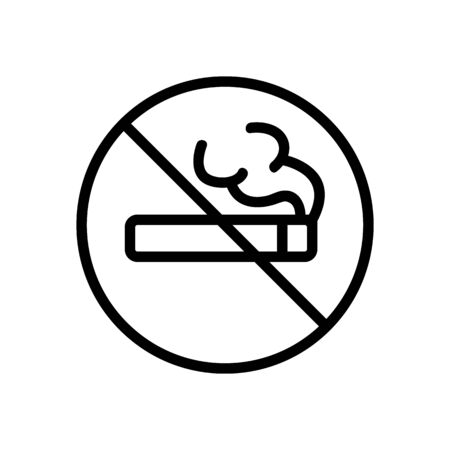 It is forbidden to smoke an icon vector. Thin line sign. Isolated contour symbol illustration