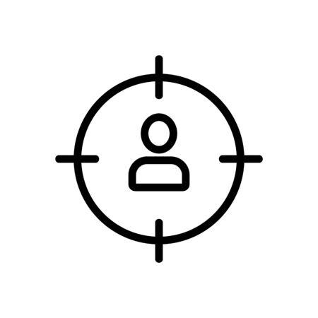 Man sight icon vector. Thin line sign. Isolated contour symbol illustration