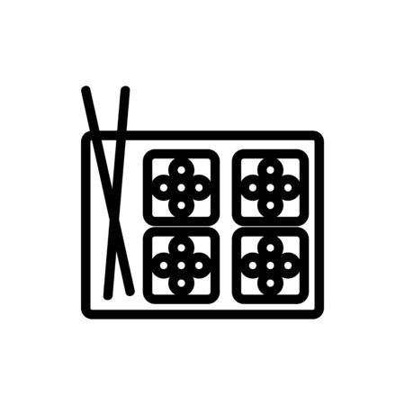 sushi, caviar icon vector. Thin line sign. Isolated contour symbol illustration