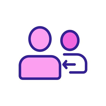 businessman, referral icon vector. Thin line sign. Isolated contour symbol illustration Иллюстрация