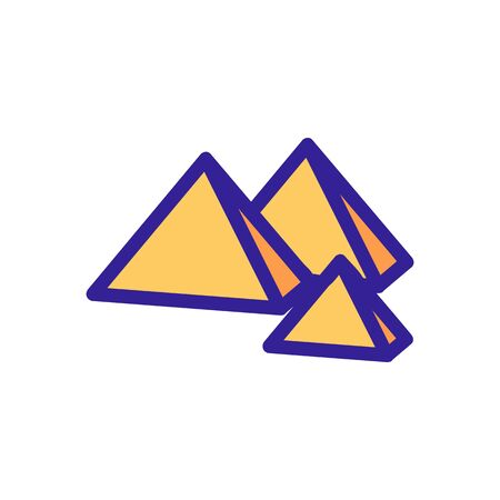 Egypt pyramid icon vector. Thin line sign. Isolated contour symbol illustration
