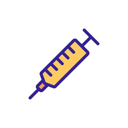 syringe icon vector. Thin line sign. Isolated contour symbol illustration