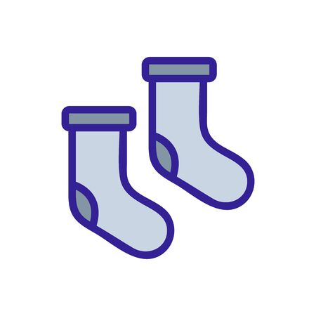 Warm socks icon vector. Thin line sign. Isolated contour symbol illustration