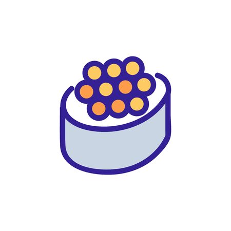 sushi, caviar icon vector. Thin line sign. Isolated contour symbol illustration