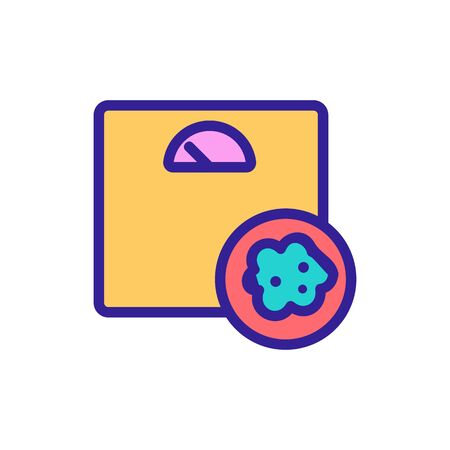 cancer, an overweight vector icon. Thin line sign. Isolated contour symbol illustration