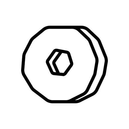 millstone icon vector. Thin line sign. Isolated contour symbol illustration