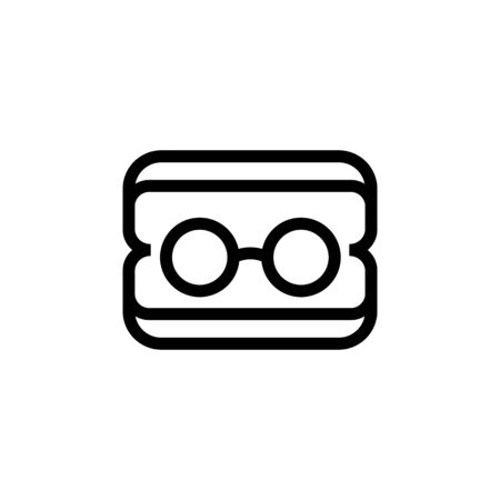 Glasses for the doctor icon vector. Thin line sign. Isolated contour symbol illustration Illusztráció