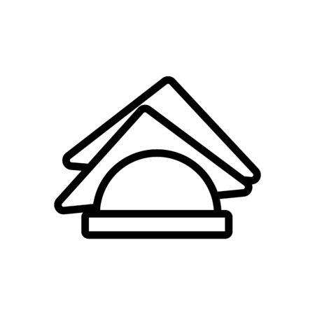 paper napkin vector icon. Thin line sign. Isolated contour symbol illustration Vektorové ilustrace
