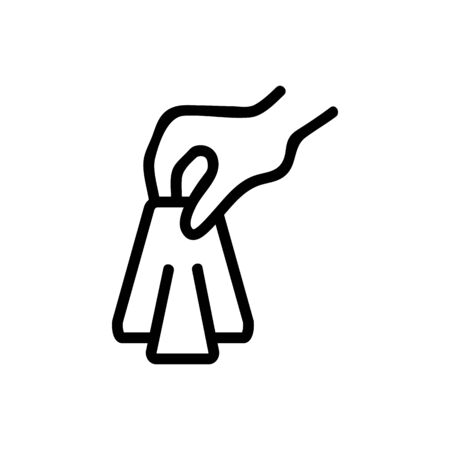 paper napkin vector icon. Thin line sign. Isolated contour symbol illustration