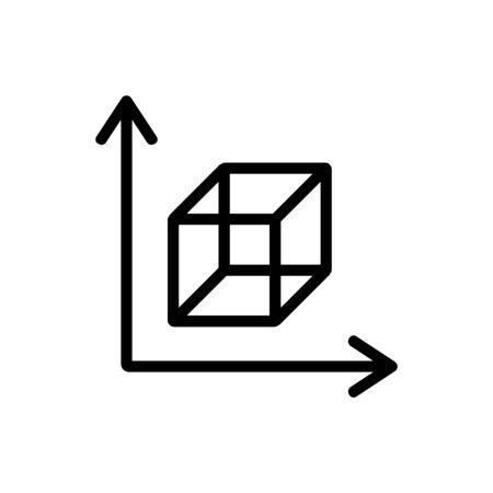 3D print printer icon vector. Thin line sign. Isolated contour symbol illustration Illustration