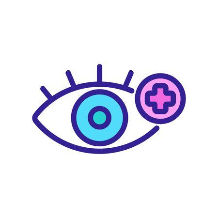 Eye icon treatment. Thin line sign. Isolated contour symbol illustration Ilustrace