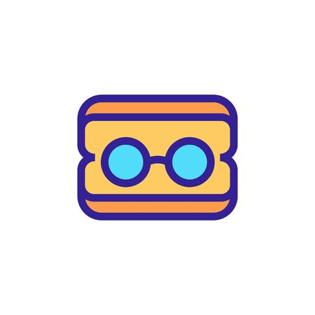 Glasses for the doctor icon Thin line sign. Isolated contour symbol illustration