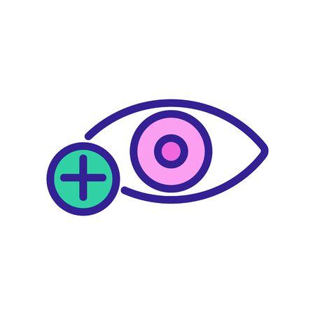 myopia icon Thin line sign. Isolated contour symbol illustration Vectores