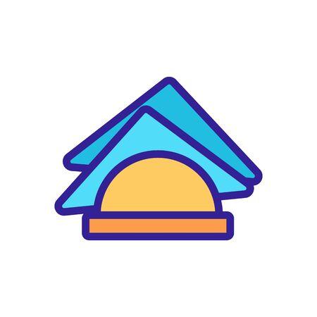 paper napkin icon. Thin line sign. Isolated contour symbol illustration Vektorgrafik