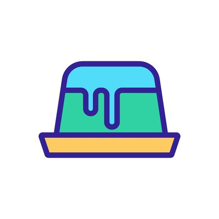delicious Jelly icon. Thin line sign. Isolated contour symbol illustration 矢量图像
