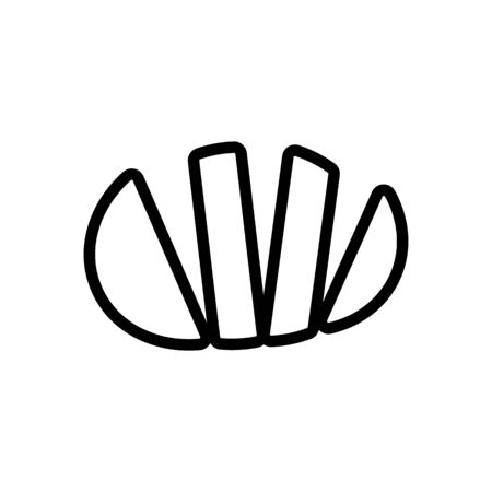tomato icon vector. Thin line sign. Isolated contour symbol illustration