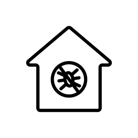 Insect control icon vector. Thin line sign. Isolated contour symbol illustration Stock fotó - 141705405
